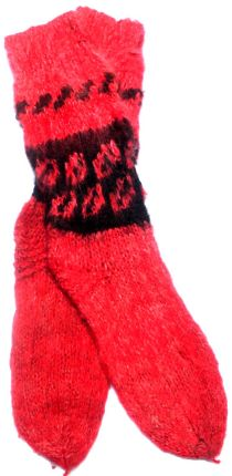 Red Alpaca Socks