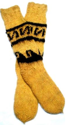 Yellow Alpaca Socks
