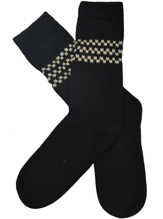 Black Alpaca Socks