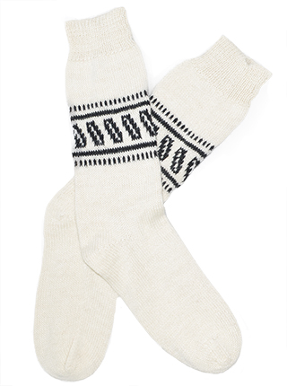 White Alpaca Socks