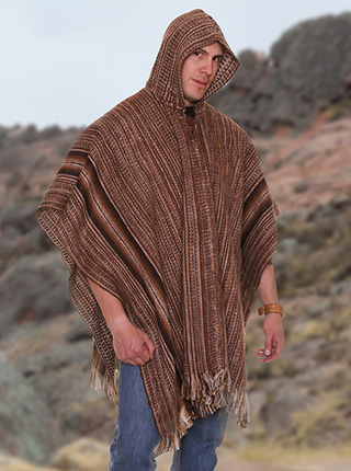 Poncho - Brown Shades