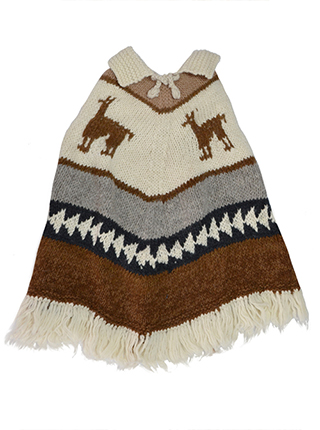 Alpaca Poncho  - Kids ages 2 to 3