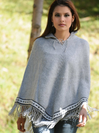 Short Gray Poncho