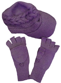 Purple Cap and Mittens