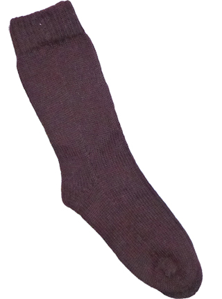 Thick Alpaca Socks - Brown