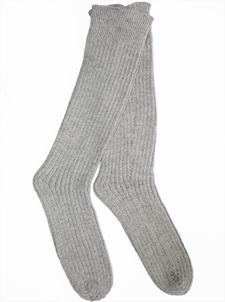 Thick Alpaca Socks - Gray