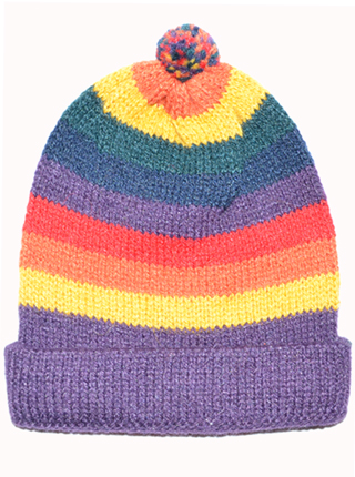 Multicolor Alpaca Hat (0-1 year)