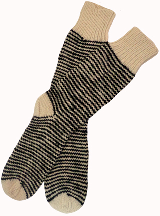 Striped  Socks - Worm