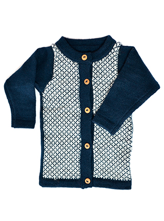 Blue Cardigan with Buttonss - Nuna