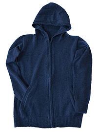 Cardigan with Zipper and Hood - Rumi