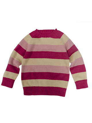 Sweater in pink and yelow tones