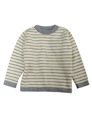 Sweater yellow with gray lines