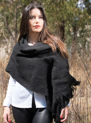 Alpaca Shawl - Black