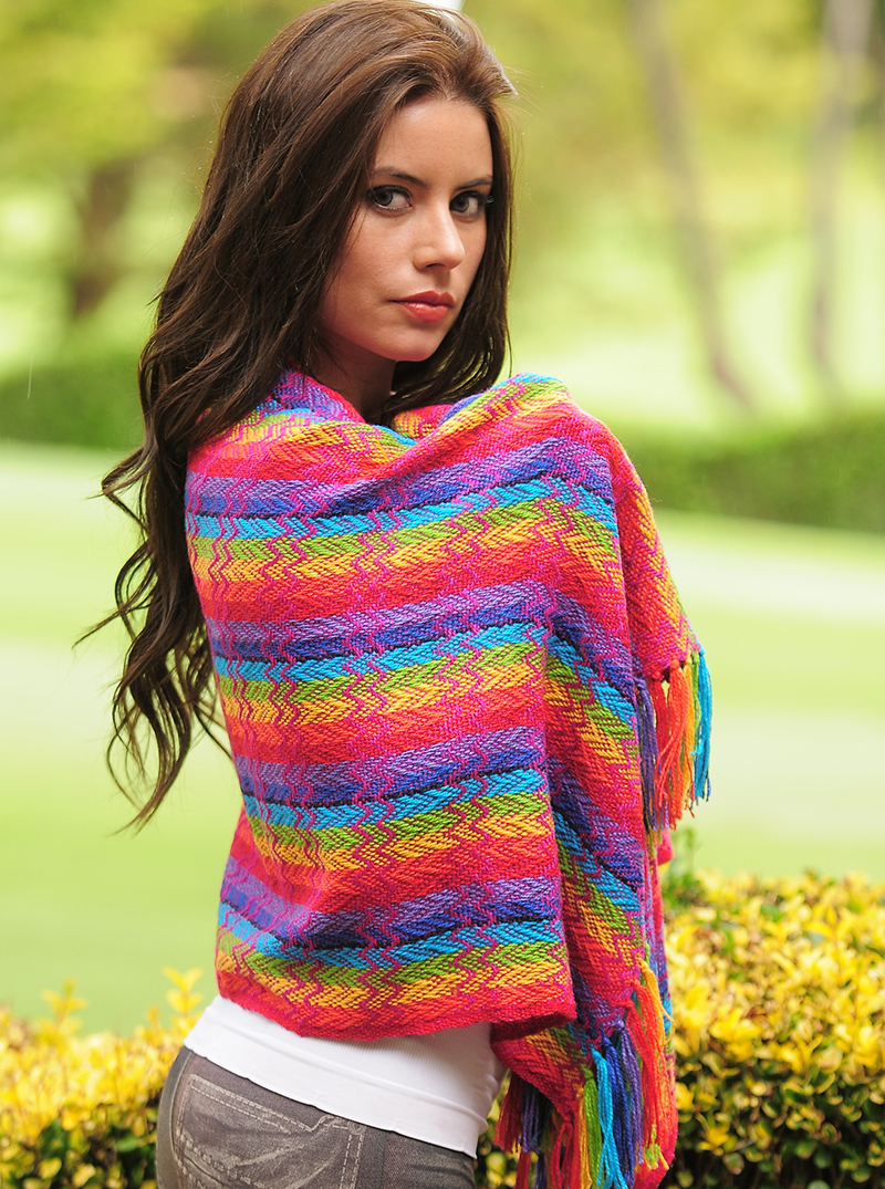 Rainbow Alpaca Shawl Alpaca Mall