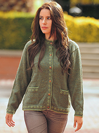 Green Alpaca Jacket