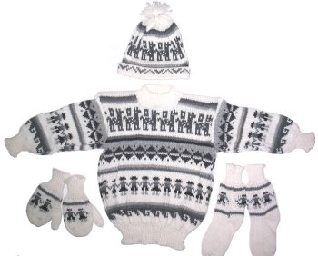 White Alpaca 4 Piece Toddler Set