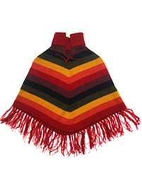 Multicolored Alpaca Poncho for Kids