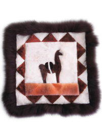 Alpaca Pillow Case - Dark Brown