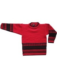 Kids Plain Style Red Sweater<br>Ages 4 - 5