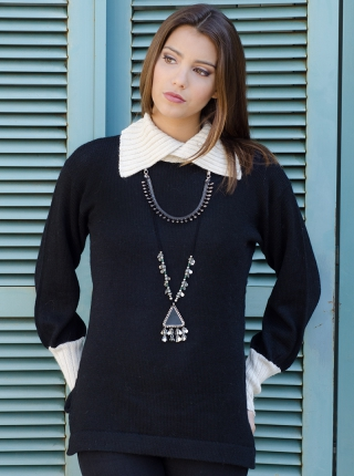3/4 Neck Style Sweater