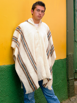 Hooded Rustic Poncho
