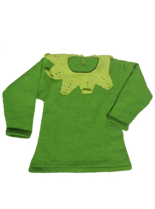 Alpaca Sweater for Girls - Lechuguita