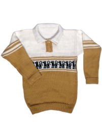 Alpaca Sweater - Beige and White