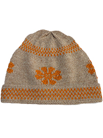 Orange Flower  Alpaca Hat