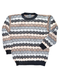 Multicolor Alpaca Sweater - Waves