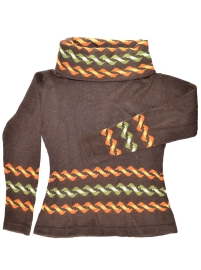 Brown Alpaca Sweater - Eclipse