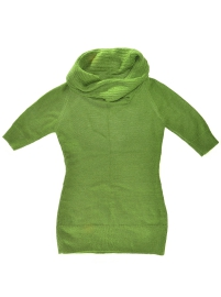 Green Alpaca Sweater - 3/4 Sleeve
