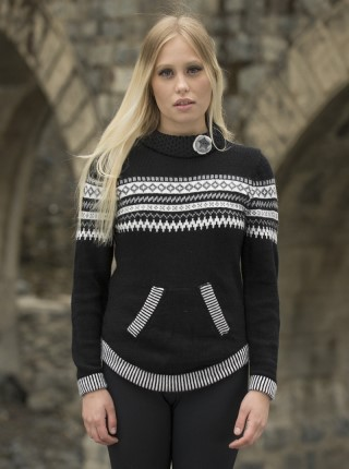 Black Soft Alpaca Sweater - Victorina