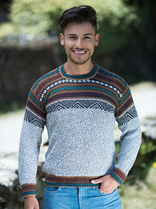 Gray Melange Alpaca Sweater