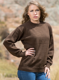 Alpaca Sweater for Women - Brown
