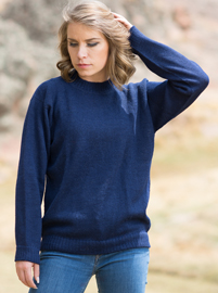 Alpaca Sweater for Women - Blue