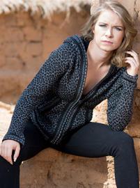 Dark Gray Alpaca Sweater - Andean Cross