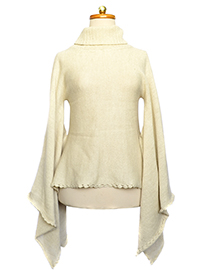 Draped Alpaca Sweater - Qalani