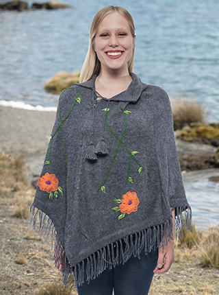 Spring Flowers Poncho