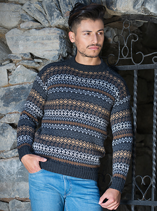 Alpaca Brown Tones Sweater - La Pampa