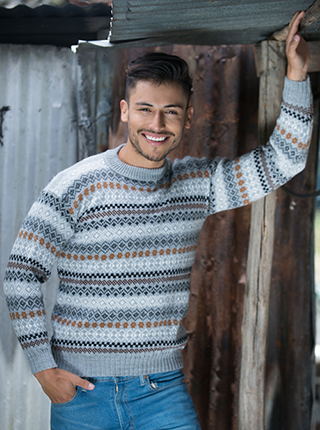 Alpaca Light Grey Sweater - Salta