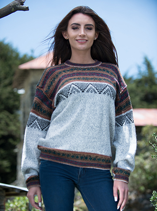 Alpaca Light Brown Sweater - Córdoba