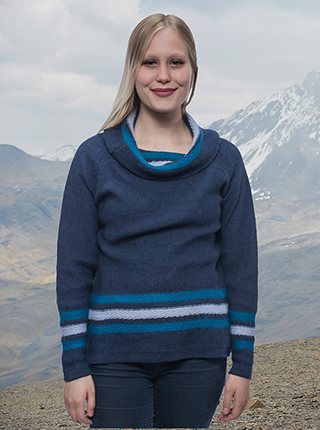 Alpaca Blue Sweater - Bariloche