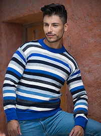 Alpaca Colorful Sweater for men - Chubut