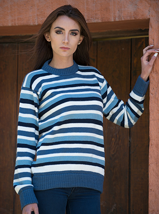 Alpaca Colorful Sweater for women - Chubut