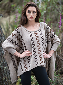 Alpaca Brown Poncho - Guarasugwe