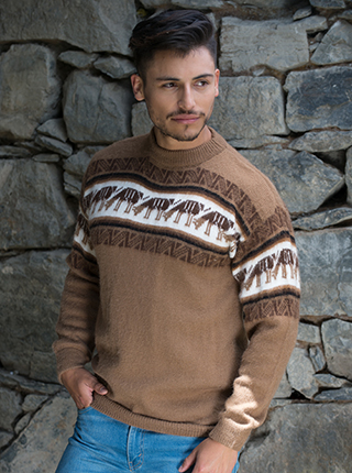 Alpaca brown Llamita Sweater - Yaminahua