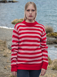 Red striped sweater