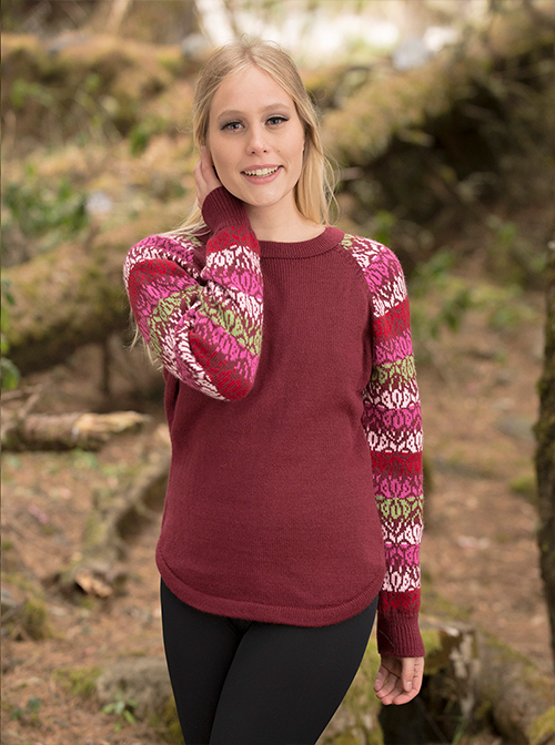 Cherry Soft Alpaca Sweater - Tarija