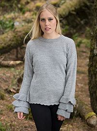 Gray Soft Alpaca Sweater - Chiquitania
