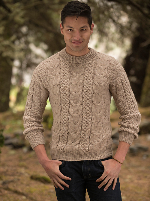 Cream Warm Alpaca Sweater - Puno